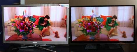 3D comparison: Samsung C8000 vs. LX9500