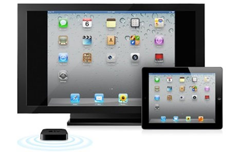 With AirPlay you can see video and play games from the iPad on the TV