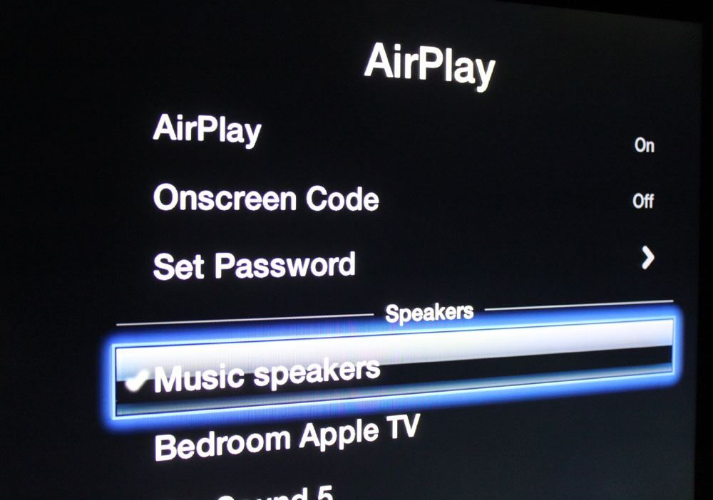Apple TV now streams wireless audio to speakers