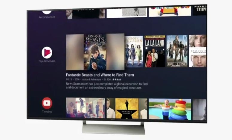 New user interface on Android TV
