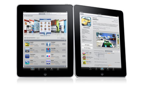 Apple iPad with multi-touch technology
