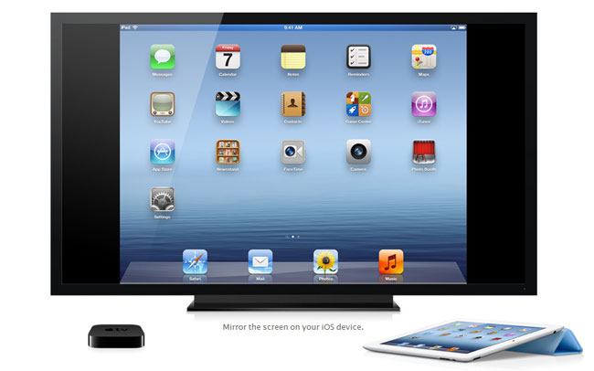 See your home iPad or iPhone home screen on the TV with AirPlay Mirroring