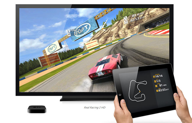 AirPlay Mirroring makes the Apple TV a game console