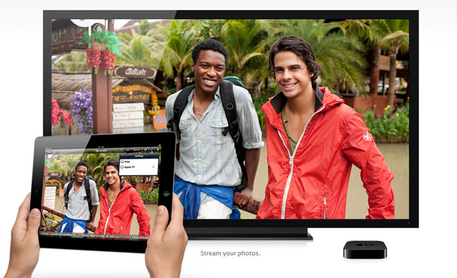 Stream video, pictures og music from an Apple devices to your TV screen via AirPlay