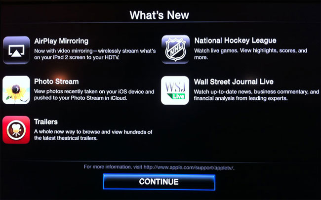 Apple TV has been updated with new features
