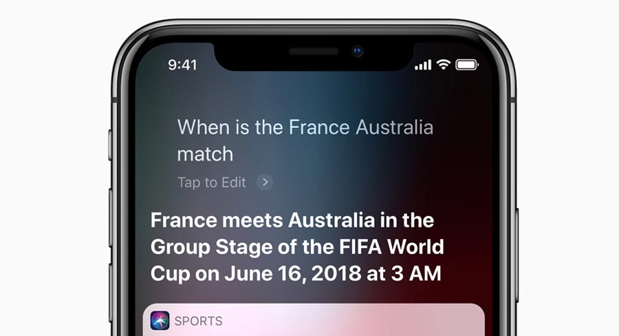 Siri can answer World Cup questions