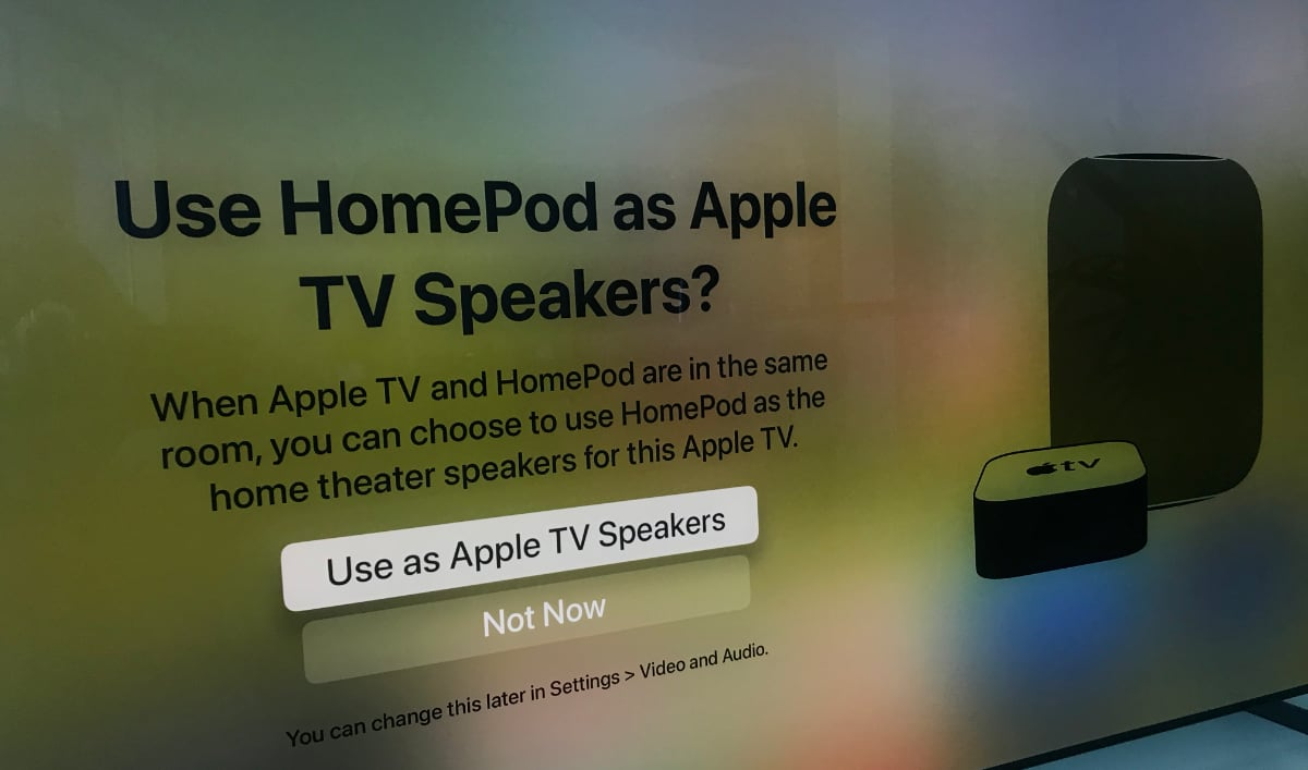 HomePod Home Theater with Apple TV 4K