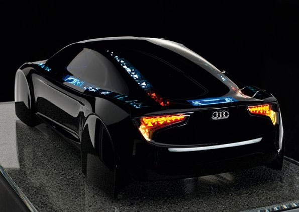 Audi's concept car with OLED lights