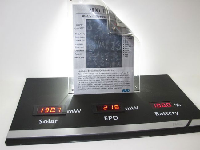 AUO's 6-inch rollable E-paper