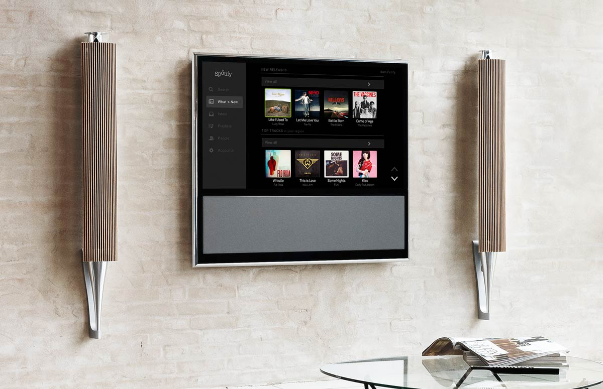 b o spotify team up for tv integration flatpanelshd. Black Bedroom Furniture Sets. Home Design Ideas