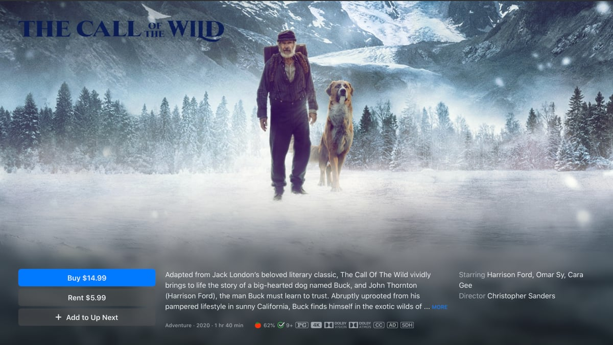 Call of the Wild in 4K Dolby Vision and Atmos