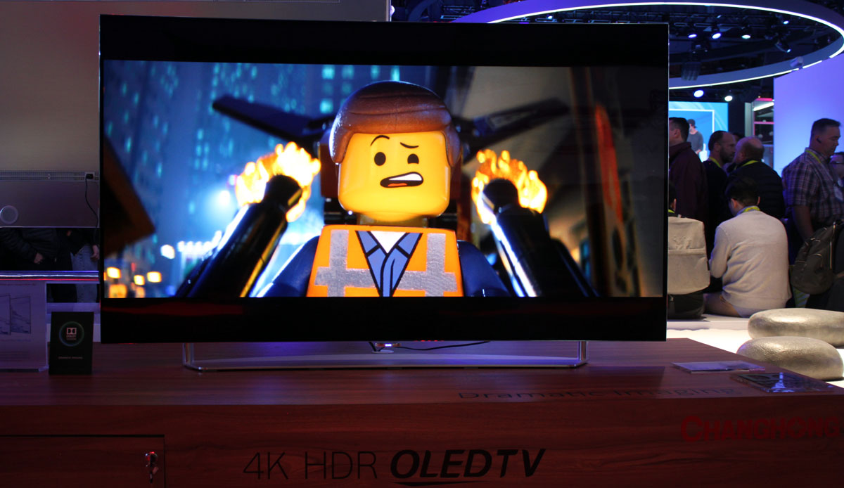 Chinese TV makers showcase OLED TVs with 4K, HDR & Dolby