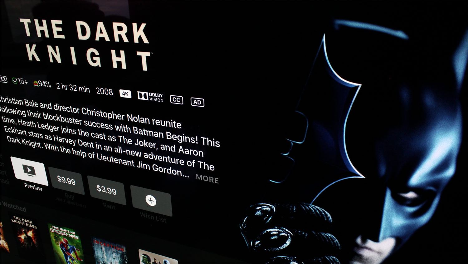 Hollywood Doesnt Really Want You To Buy Ultra Hd Blu Ray Discs Short Circuit Bluray Review Front Row Reviews The Dark Knight On Itunes