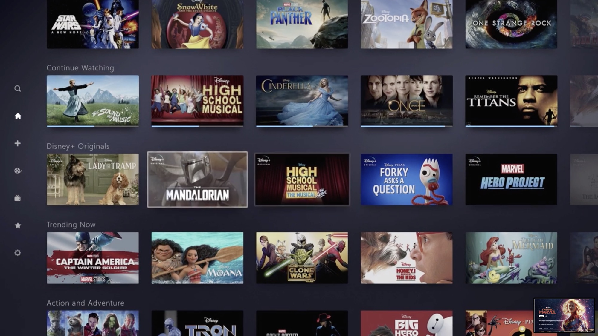Disney+ launching on November 12 for $7/month with 4K HDR