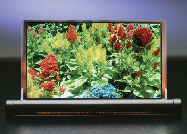 A 4.3-inch prototype OLED display made with DuPont's inkjet printing