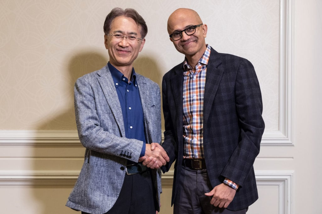 Sony and Microsoft game partnership