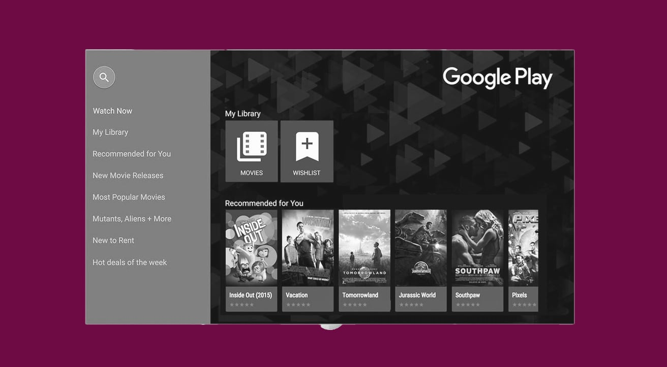Google Play Movies app