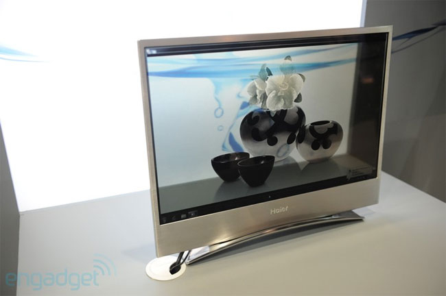 Haier's transparent 22-inch display