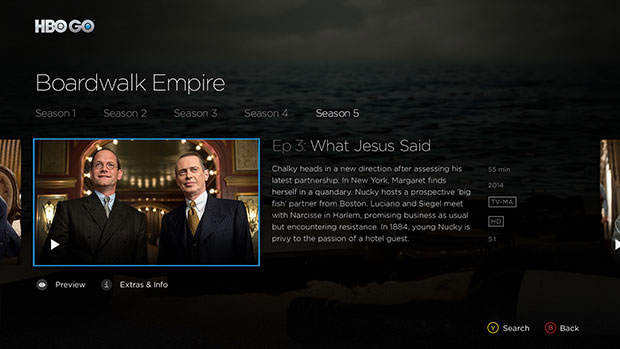 HBO GO on Xbox One