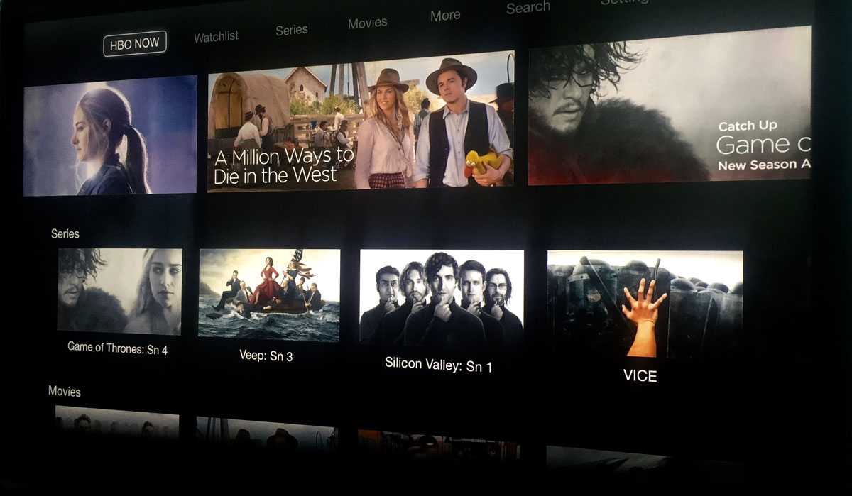 Hbo go Apple tv no Picture Hbo Now Hands on The Apple tv