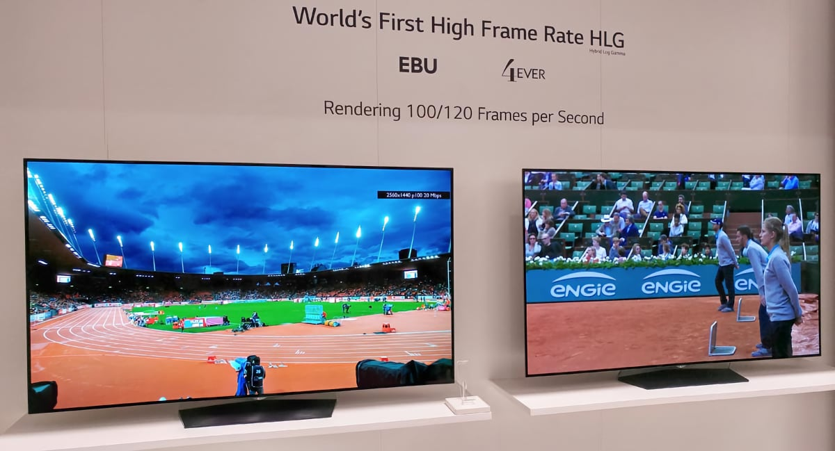 HFR demo (with HLG HDR) by LG, EBU, 4EVER