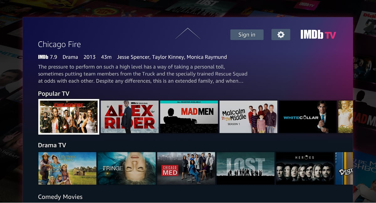 IMDb TV for Android TV