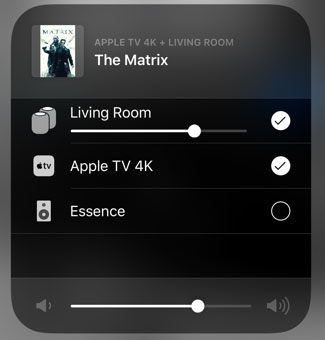 Apple iOS 12.2 Control Center for Television