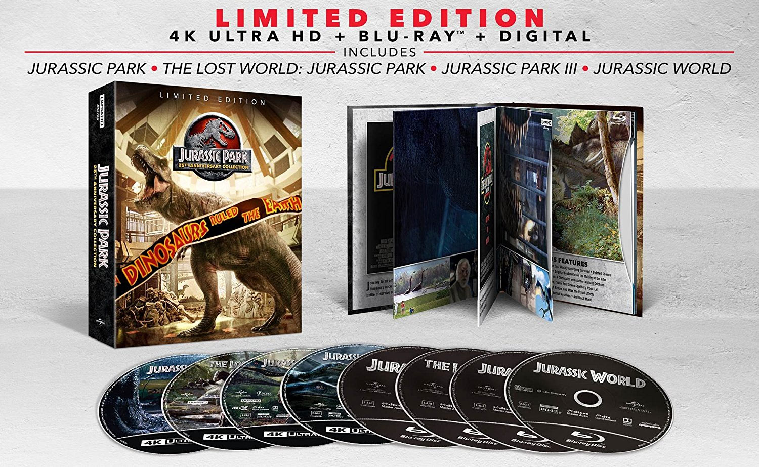 Jurassic Park Collection will be released on UHD Blu-ray in