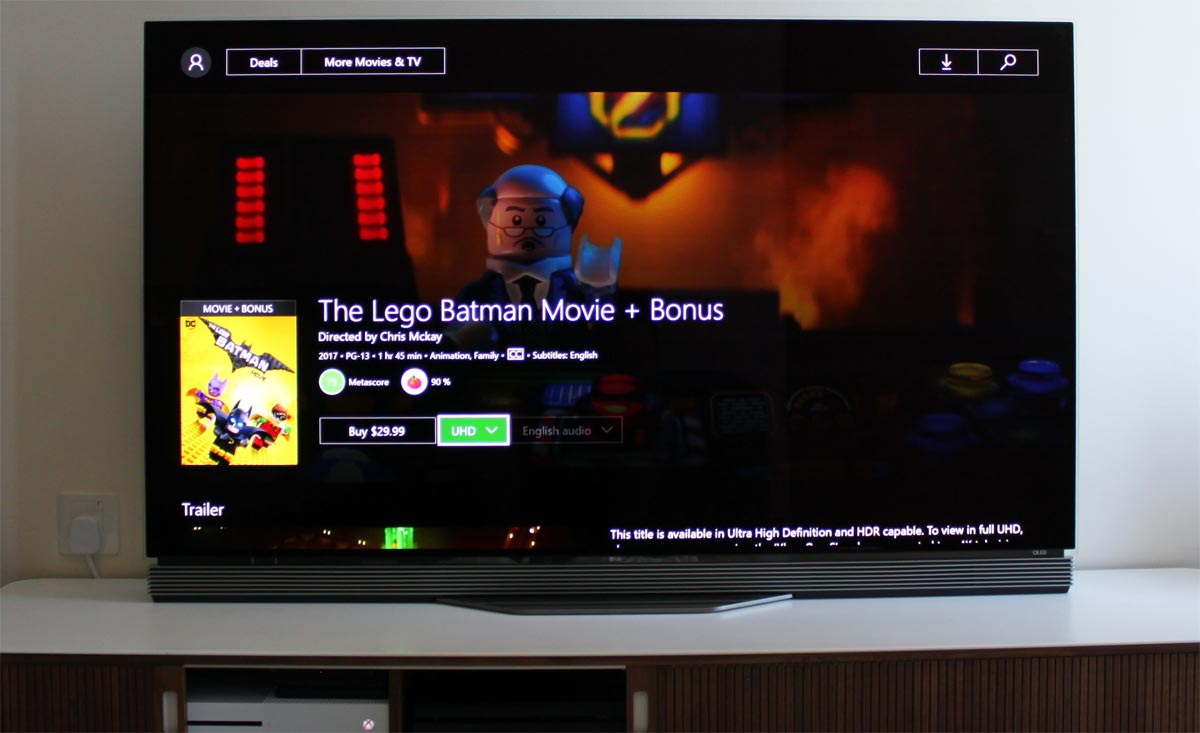 First 4K HDR movie arrives in Xbox One video store