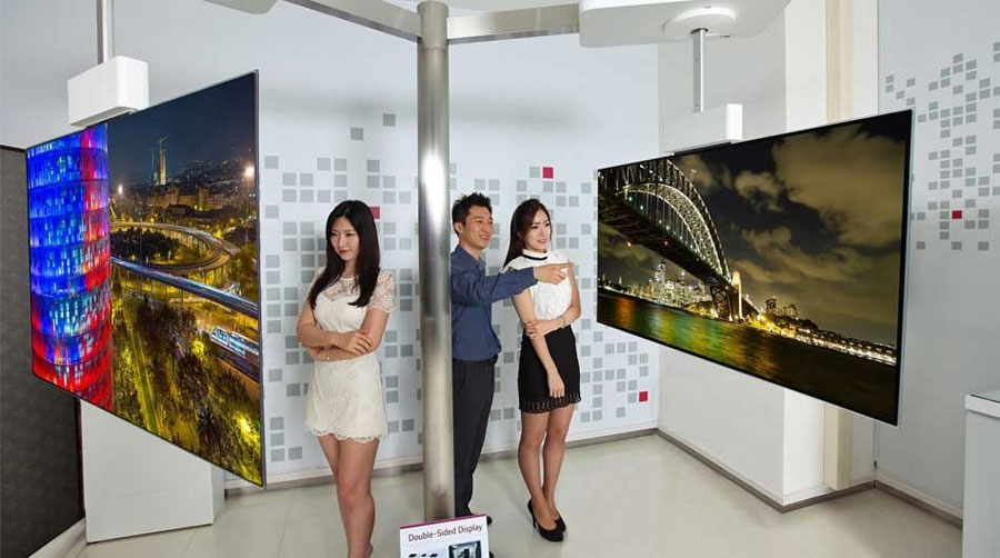 LG double-sided OLED