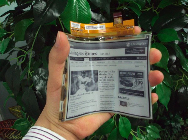 LG's flexible E-Ink display