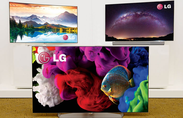 "LG 2015 OLED line-up"" title="