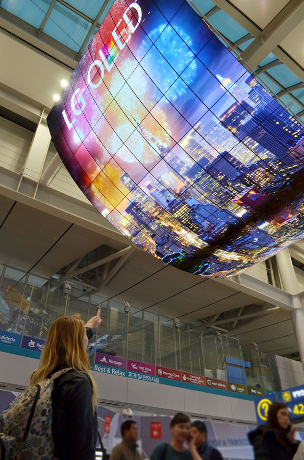 LG OLED display at Incheon
