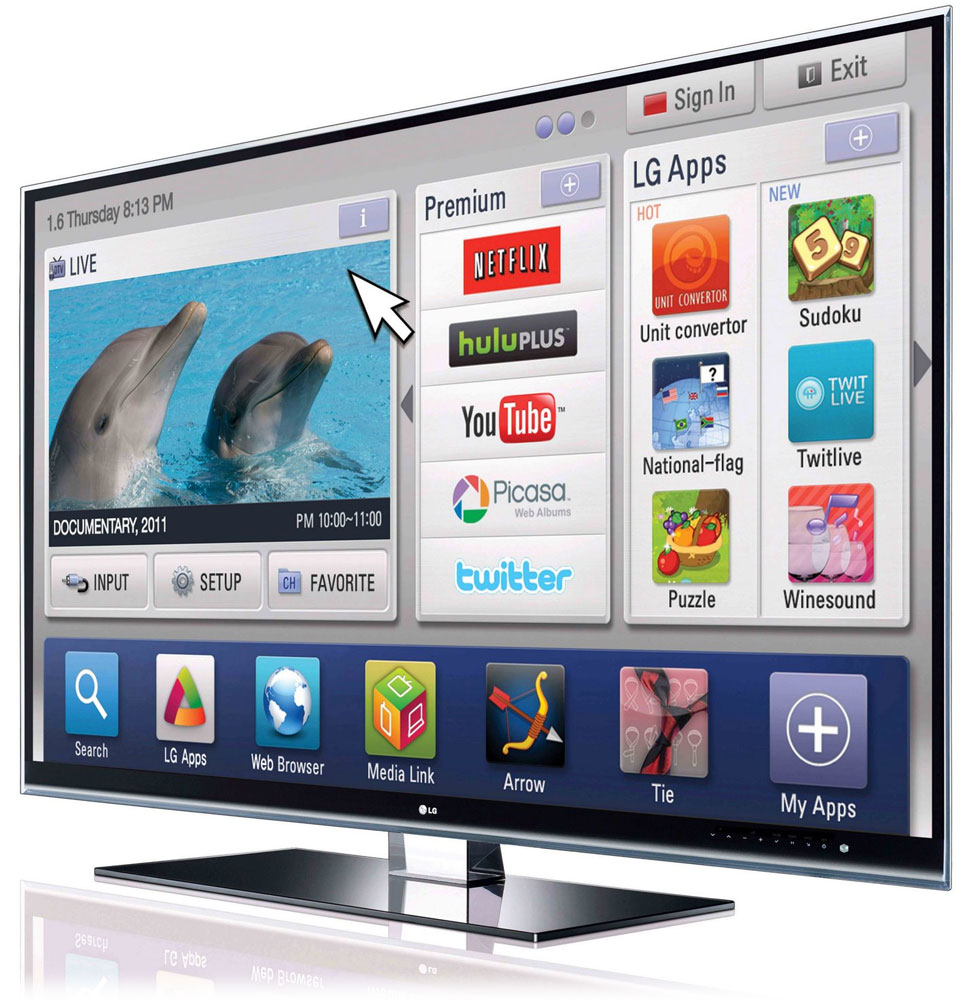 Lg hopes to add flash apps to 2012 smart tvs