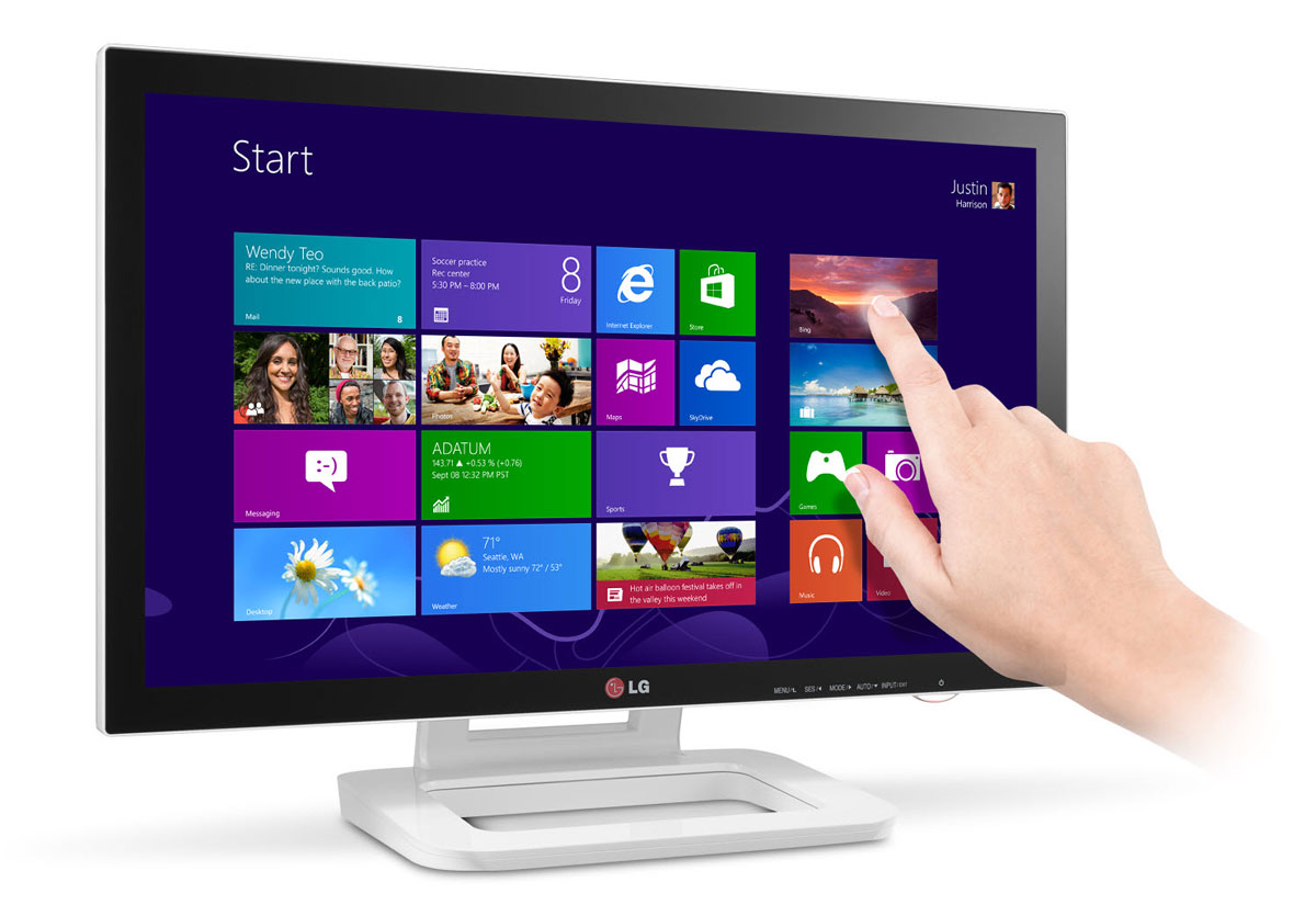 lg also has a touch monitor for windows 8 flatpanelshd. Black Bedroom Furniture Sets. Home Design Ideas