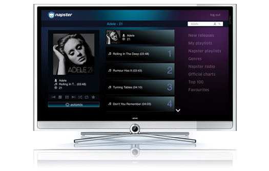 Napster on Loewe Smart TV