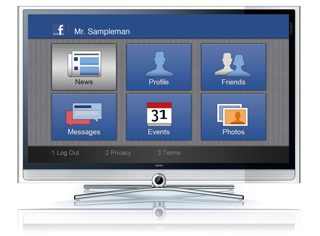 Facebook on Loewe Smart TV