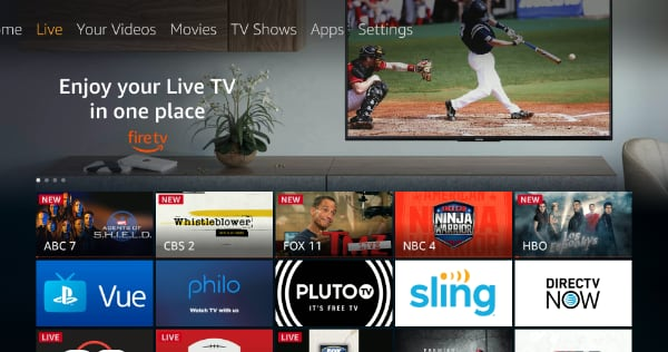 Amazon Fire TV gets 'Live' section - FlatpanelsHD