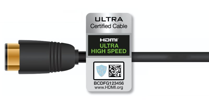 HDMI 2.1 Ultra High Speed certified logo