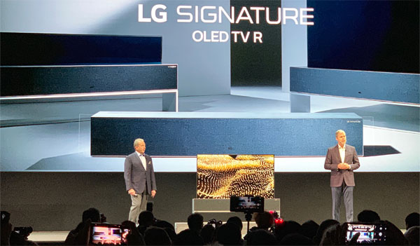 LG Rollable R9 OLED TV
