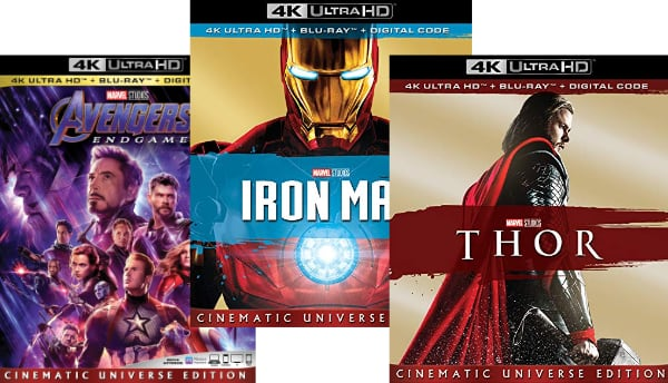 Marvel UHD Blu-ray discs