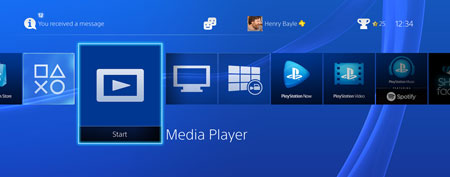 PS4 media player