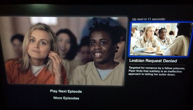 Netflix post-play on Apple TV