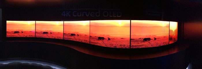 Panasonic curved OLED TV