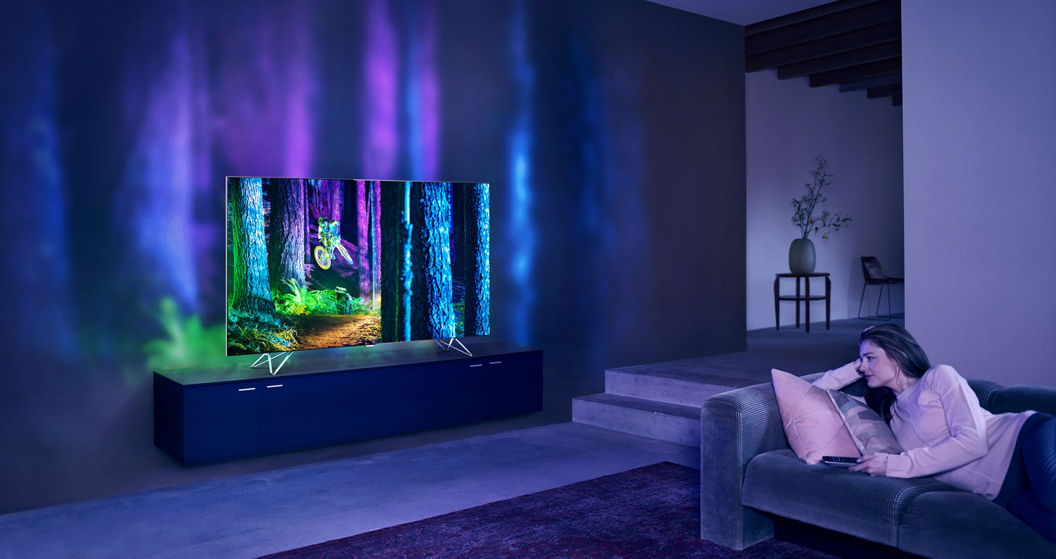 Philips takes Ambilight to next level with AmbiLux TV ...