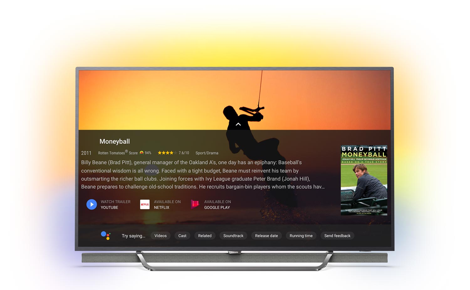 google assistant coming to philips android tvs this fall flatpanelshd. Black Bedroom Furniture Sets. Home Design Ideas