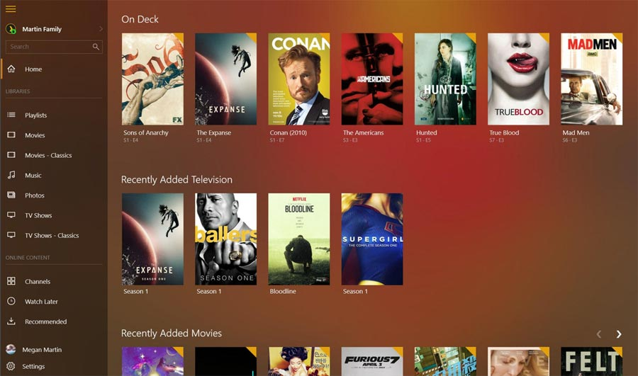 Plex for Windows 10