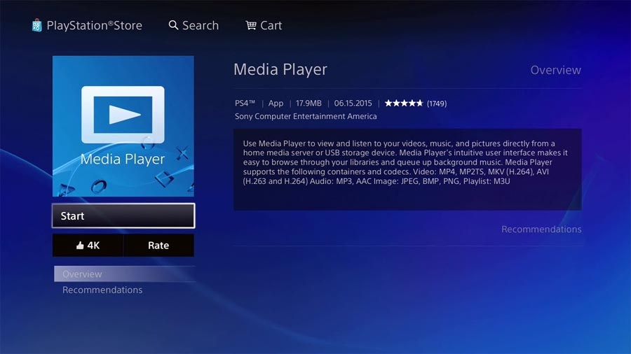 PS4 Pro Media Player