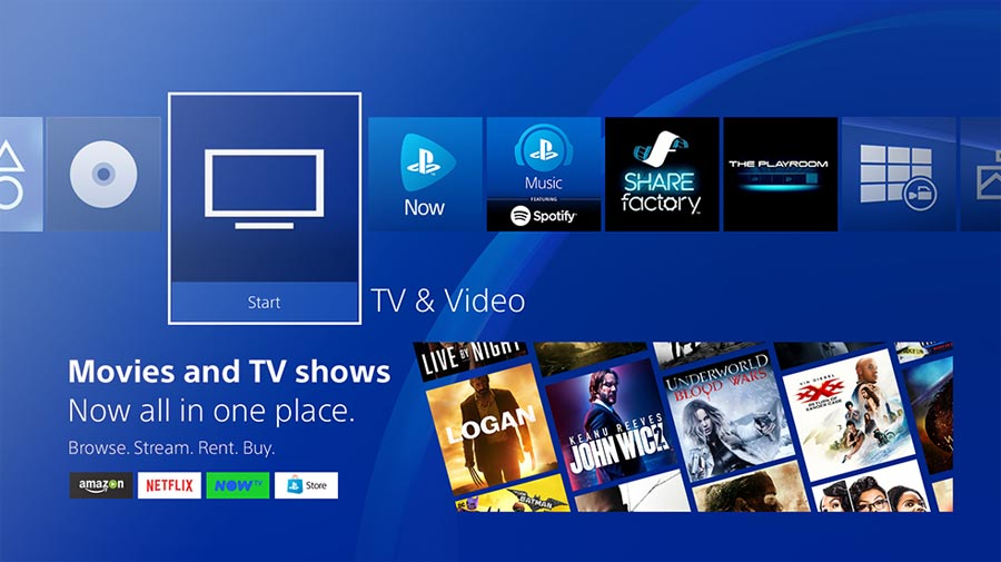 TV & Video on PlayStation 4