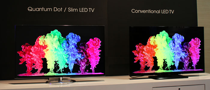 Sharp TV with quantum dots